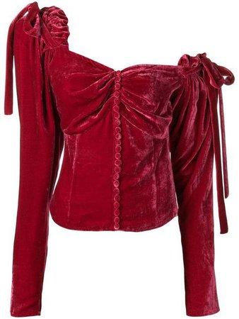 red velvet shirt