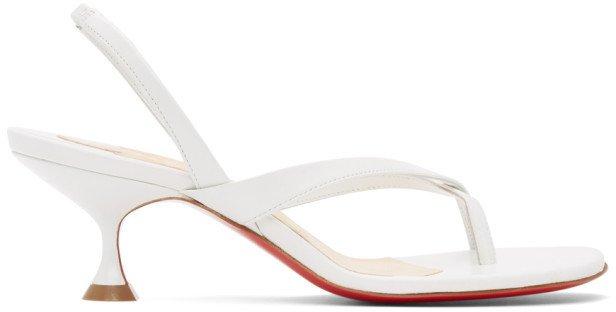 White Taralita 55 Heeled Sandals