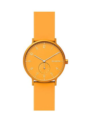Skagen Aaren Kulør Orange Silicone Watch