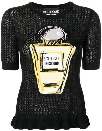 perfume bottle knitted top