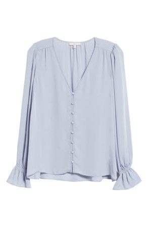 Joie Bolona Silk Blouse blue