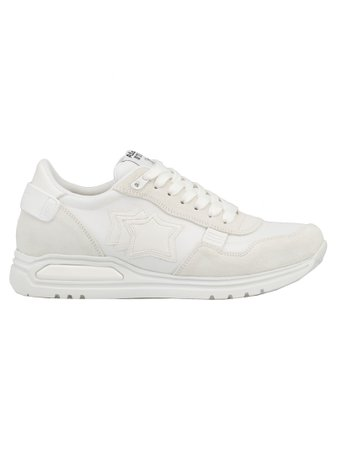 Atlantic Stars Leather And Tech Fabric Sneaker