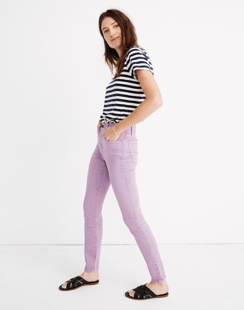 """9"""" Mid-Rise Skinny Jeans: Garment-Dyed Edition"""