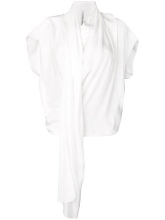 Poiret Pleated Blouse 19511804120 White | Farfetch