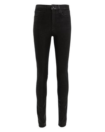 Black Coated Skinny Jeans   INTERMIX®