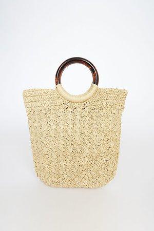 Cute Beige Bag - Woven Tote Bag - Raffia Tote Bag - Lulus
