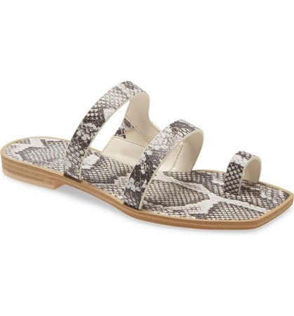 Dolce Vita Isala 3 Croc Textured Slide Sandal (Women) | Nordstrom