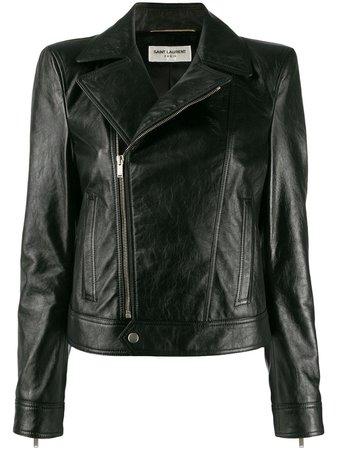 Saint Laurent Zipped Biker Jacket - Farfetch