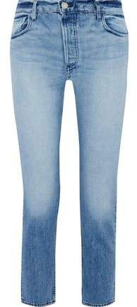 W3 Higher Ground Faded Mid-rise Straight-leg Jeans