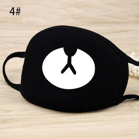 8 Types New Fashion Unisex Cotton Face Masks Black Cute Cartoon Anti Dust Face Mouth Mask Muffle | Wish