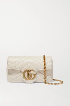 Gucci   GG Marmont super mini quilted leather shoulder bag   NET-A-PORTER.COM