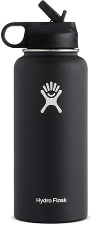 Amazon.com : Hydro Flask Wide Mouth Water Bottle, Straw Lid - Multiple Sizes & Colors : Sports & Outdoors