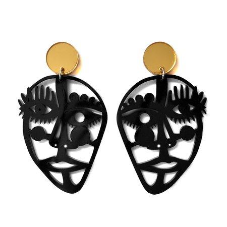 Laser Cut Earring Statement Earring Abstract Earring Abstract Face Earring Acrylic Earring Eye Earrings Picasso Face Jewelry Acrylic Jewelry
