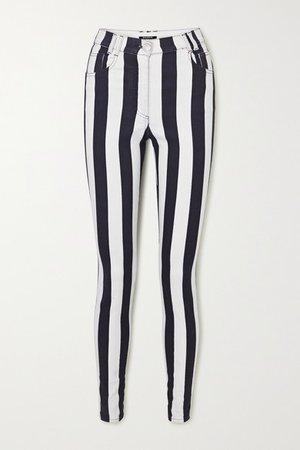 Balmain | Jean skinny taille haute à rayures | NET-A-PORTER.COM