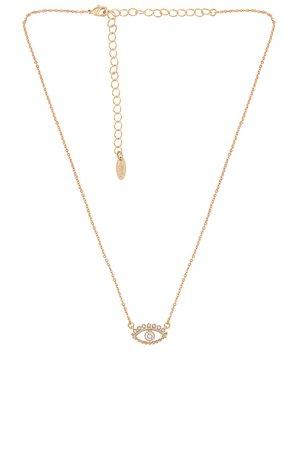 Ettika Evil Eye Necklace in Gold | REVOLVE