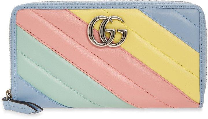 GG 2.0 Matelasse Leather Zip Around Wallet