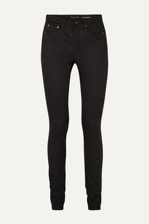 SAINT LAURENT   High-rise skinny jeans   NET-A-PORTER.COM