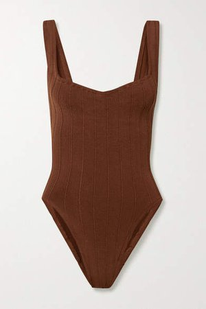 Nile Anthea Ribbed Swimsuit - Brown