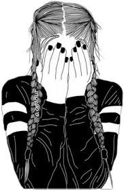 black and white doodles tumblr girls - Google Search