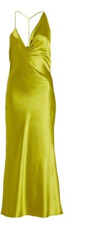 Cushnie Sleeveless Silk Midi Dress