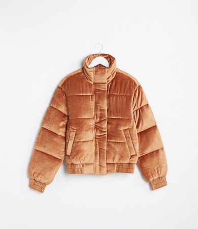 Lou & Grey Velvet Puffer Jacket
