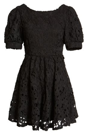 Lulus For a Moment Floral Lace Cutout Minidress | Nordstrom