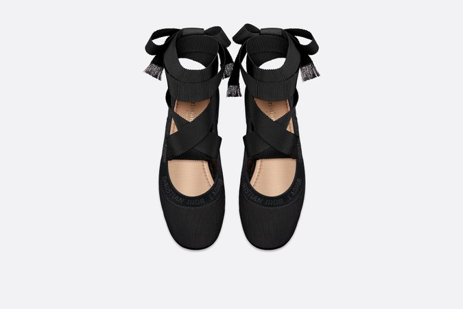 Dior Academy Lace-Up Ballerina - Shoes - Woman   DIOR