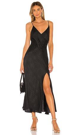 ASTR the Label Bastille Dress in Black Python   REVOLVE