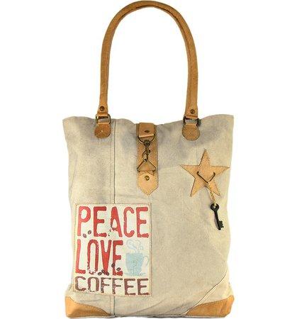 Peace, Love, Coffee Canvas Tote Bag   Nordstromrack
