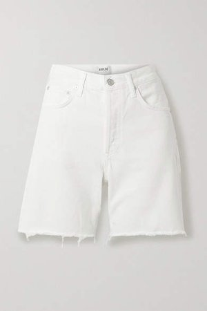 Agolde AGOLDE - Rumi Frayed Denim Shorts - White