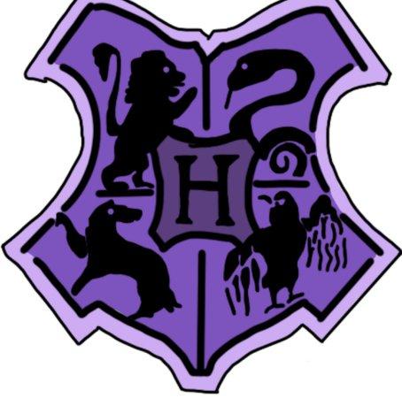 Purple Hogwarts Crest