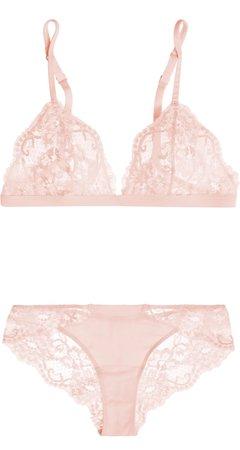 La Perla Souple lace and stretch cotton-blend jersey soft-cup triangle bra