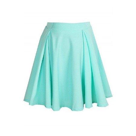 ice cream pleated pastel skirt mint green