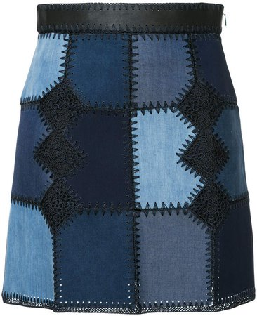 Loveless patchwork detail skirt