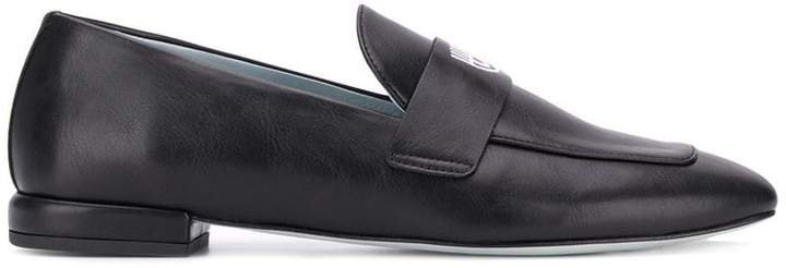 embroidered eye loafers
