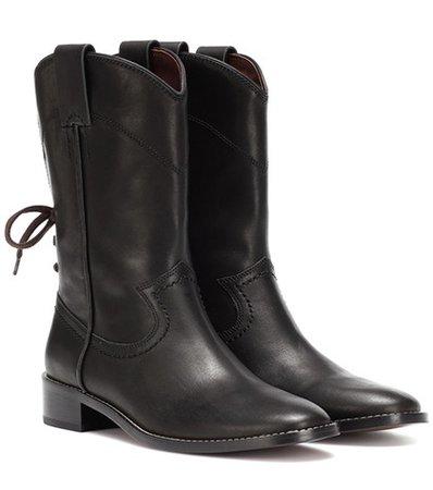 Annika leather cowboy boots