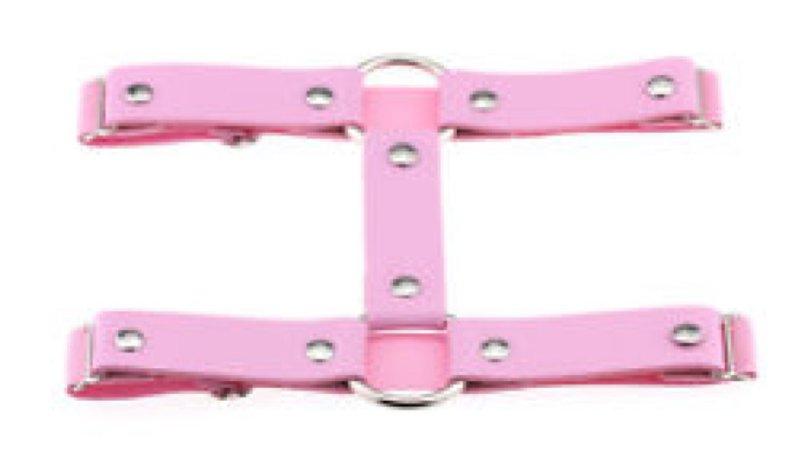 PU Leather Sexy Punk Heart Garter Belt Elastic Leg Harness Leg Rinig Adjustable