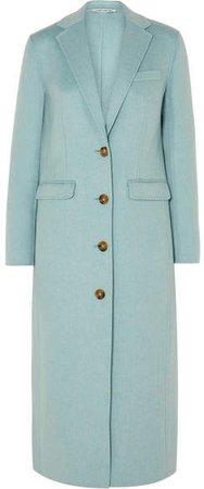 Russel Wool-blend Coat - Sky blue