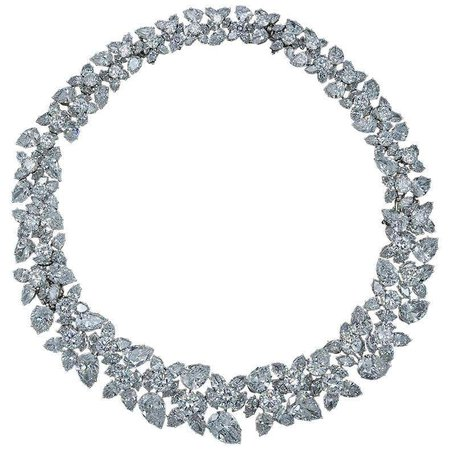 Harry Winston Diamond Wreath Necklace For Sale at 1stDibs