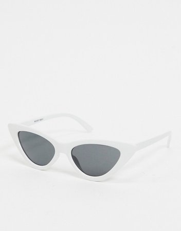 Noisy May cat eye sunglasses in white | ASOS