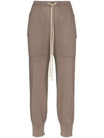 Rick Owens Fine Knit Track Pants - Farfetch
