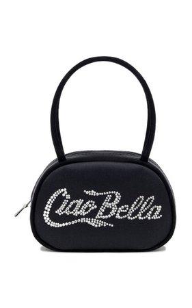 Bella Crystal-Embellished Satin Top Handle Bag By Amina Muaddi   Moda Operandi