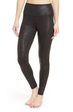 Zella Live In Metallic Print High Waist Leggings | Nordstrom