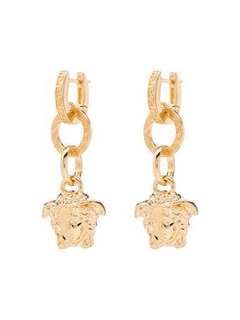Versace Medusa Drop Earrings - Farfetch