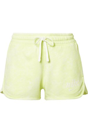 Nike | Tie-dyed French cotton-terry shorts | NET-A-PORTER.COM