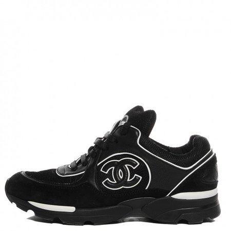 chanel black sneakers