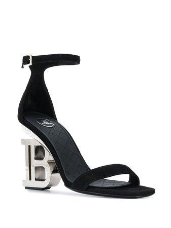 Balmain B-shaped Heel Buckled Sandals - Farfetch
