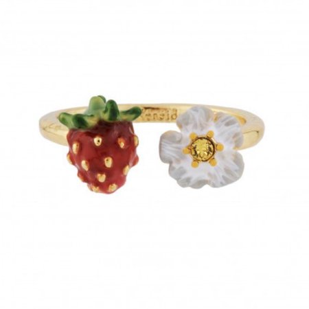 strawberry and flower ring