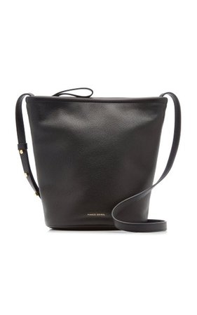 Zip-Up Leather And Canvas Bucket Bag By Mansur Gavriel   Moda Operandi