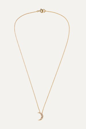 Gold Moon gold-tone crystal necklace | Isabel Marant | NET-A-PORTER